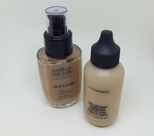 Make Up Forever and MAC Face & Body Foundation